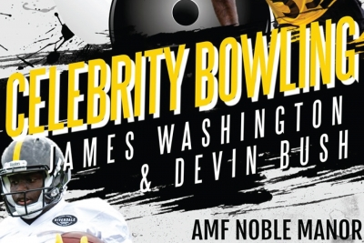 Celebrity Bowling with James Washington and Devin Bush